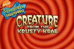 Spongebob Squarepants: Creature From The Krusty Krab GBA Screenshot Screenshot 1