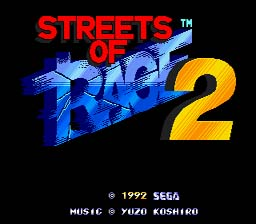 Streets of Rage 2 screen shot 1 1