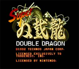 Double Dragon 4: Super Double Dragon Super Nintendo Screenshot 1