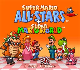 Super Mario All Stars Plus Super Mario World SNES Screenshot Screenshot 1