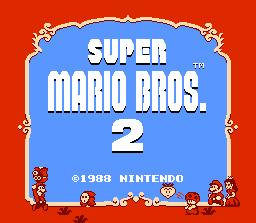 Super Mario Bros. 2 NES Screenshot Screenshot 1