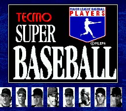 Tecmo Super Baseball Genesis Screenshot Screenshot 1