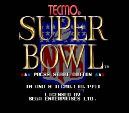 Tecmo Super Bowl Genesis Screenshot Screenshot 1
