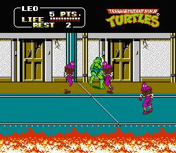 Teenage Mutant Ninja Turtles 2 NES Screenshot Screenshot 2