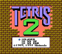 Tetris 2 NES Screenshot Screenshot 1