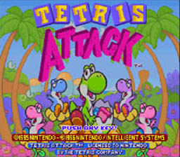 Tetris Attack Super Nintendo Screenshot 1