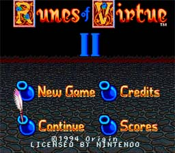 Ultima: Runes of Virtue 2 Super Nintendo Screenshot 1