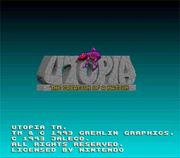 Utopia: The Creation of a Nation SNES Screenshot Screenshot 1