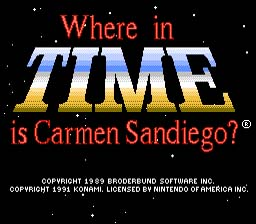 Where in Time is Carmen Sandiego? NES Screenshot 1