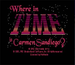Where in Time is Carmen Sandiego? Super Nintendo Screenshot 1