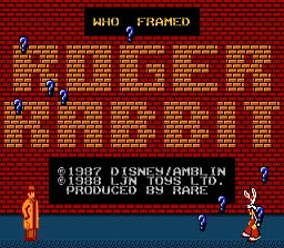 Who Framed Roger Rabbit? NES Screenshot Screenshot 1