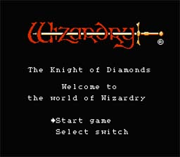 Wizardry: Knight Of Diamonds NES Screenshot Screenshot 1
