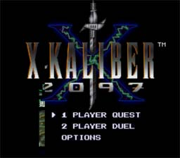 X - Kaliber 2097 SNES Screenshot Screenshot 1