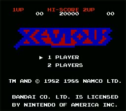 Xevious NES Screenshot Screenshot 1